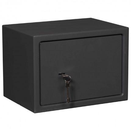De Raat Protector Sirius 250K Small Key Lock Security Safe - safe closed with keys in key retaining lock