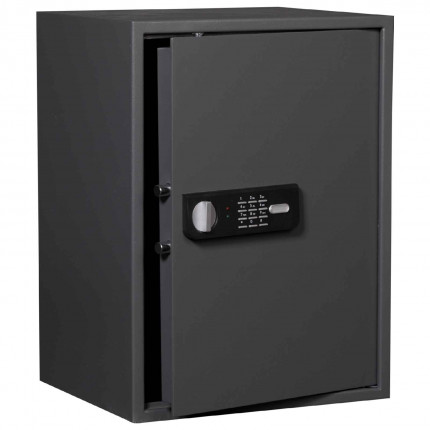 Protector Sirius 850E showing safe door open with twin live locking bolts with electronic lock and handle