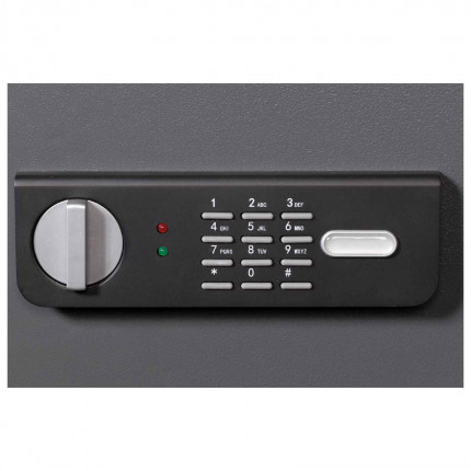 De raat Sirius 350E close up of the electronic lock and handle