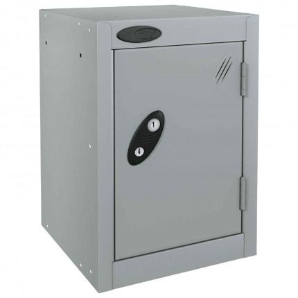 Probe 1 Door Quarto Key Locking Modular Storage Locker silver grey