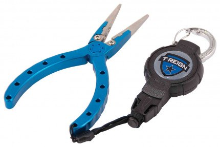 T-Reign TRG441 90cm Kevlar Cord Karabiner retractable tool tether with pliers