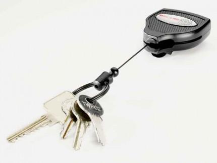 KEY-BAK 120cm Kevlar Cord Heavy Duty Clip On Belt Key Reel extended