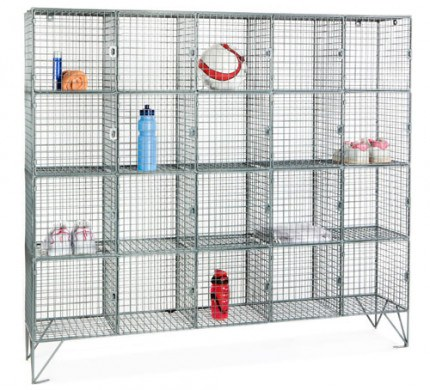 Robinson 20 Door Metal Wire Mesh 1360x1525x450mm Storage Locker