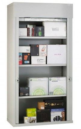 Steel Roller Shutter Door Cabinet 3 Shelves 200x100x50 - Bedford 90215A