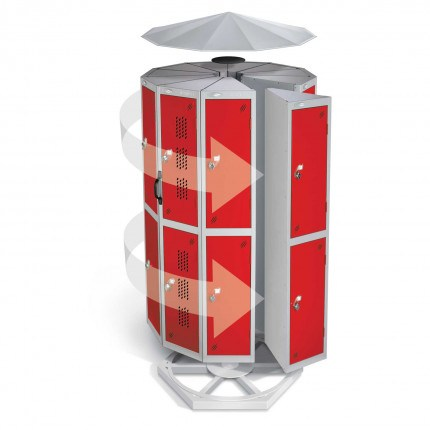 Probe Locker Pod 2 Door 7 seed with rotating base and canopy in red