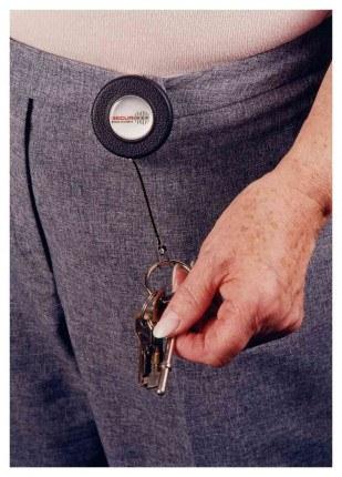 Securikey RBLB Belt Loop Key Reel 60cm Steel Chain