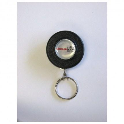 KEY-BAK Spring Clip Key Reel 60cm Steel Chain front face