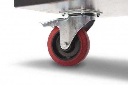 Armorgard RT400 Rubble Truck - Swivel Wheel close up
