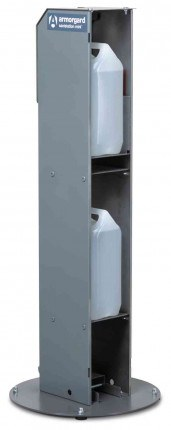 Armorgard Sanistation S10HF Mini Hands Free Sanitiser Holder 0 secure storage
