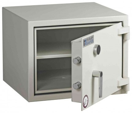 Dudley Harlech Lite S2 Laptop Fire Security Safe Size 0 - door ajar