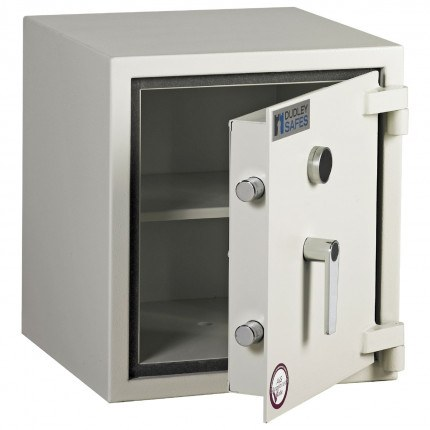 Dudley Harlech Lite S2 Fire Security Safe Size 1   - door ajar