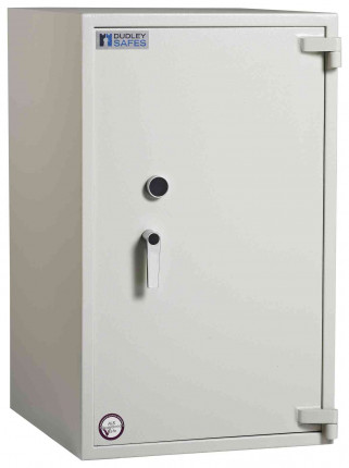 Dudley Harlech Lite Size 5 Large Fire Security Safe  - Door closed
