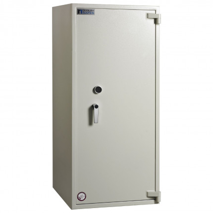 Dudley Harlech Lite Size 6 Large Fire Security Safe  - Door closed