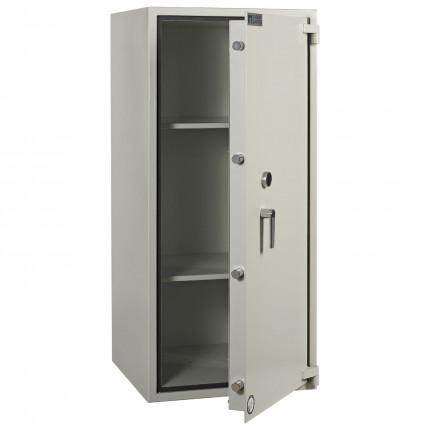 Dudley Harlech Lite Size 6 Large Fire Security Safe  - Door ajar