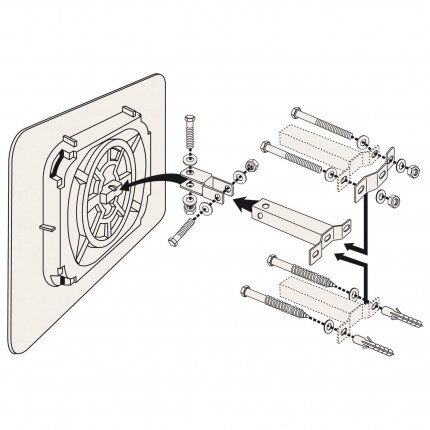 Vialux 524 Convex Observation Mirror Polymir 600x400mm Fixing Bracket