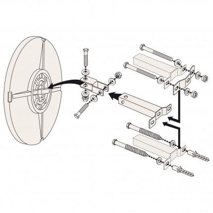 Vialux 9060 Blindspot Convex Mirror 600mm Diameter Fixing Bracket