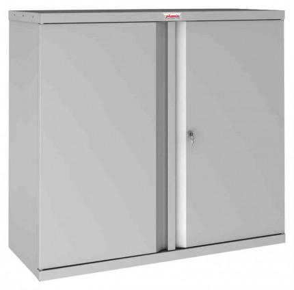 Phoenix SCL0891GGK 2 Door Grey Key Locking Steel Storage Cupboard
