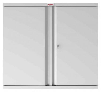 Phoenix SCL0891GGK 2 Door Grey Key Locking Steel Storage Cupboard front profile