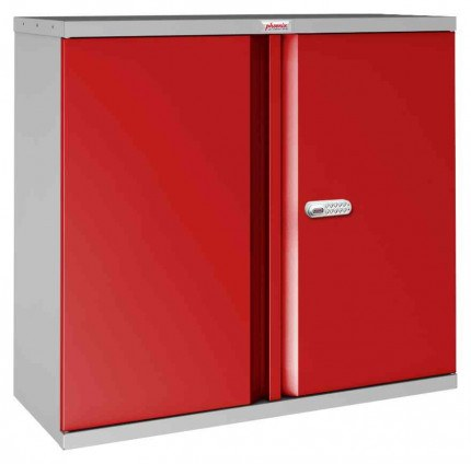 Phoenix SCL0891GRE 2 Door Red Electronic Steel Storage Cupboard