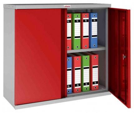 Phoenix SCL0891GRK 2 Door Red Key Locking Steel Storage Cupboard open