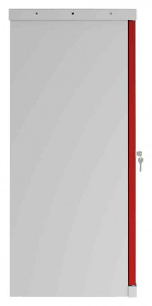 Phoenix SCL0891GRE 2 Door Red Electronic Steel Storage Cupboard side profile