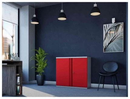 Phoenix SCL0891GRK 2 Door Red Key Locking Steel Storage Cupboard in use