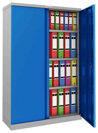 Phoenix SCL1491GBE Flat Packed Blue Cupboard | Electronic open