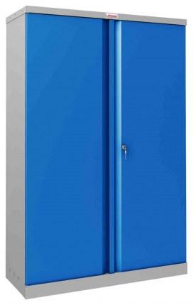 Phoenix SCL1491GBK 2 Door Blue Steel Storage Cupboard | Closed