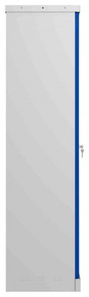 Phoenix SCL1491GBE Flat Packed Blue Cupboard | Electronic side view