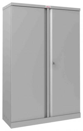 Phoenix SCL1491GGK 2 Door Grey Steel Storage Cupboard | Closed