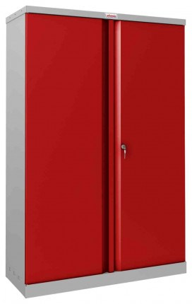 Phoenix SCL1491GRK Flat Packed Red Cupboard | Key Lock - closed