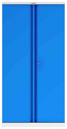 Phoenix SCL1891GBK 2 Door Blue Steel Storage Cupboard | Key Locking - face on