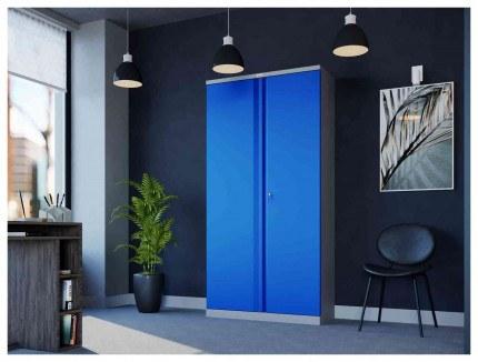Phoenix SCL1891GBE 2 Door Blue/Grey Electronic Steel Storage Cupboard in use