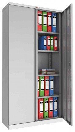 Phoenix SCL1891GGE 2 Door Grey Steel Cupboard | Electronic | Open