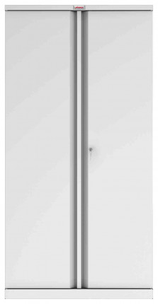 Phoenix SCL1891GGK 2 Door Grey Steel Cupboard | Key Lock