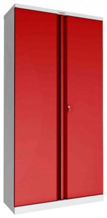 Phoenix SCL1891GRK 2 Door Red Steel Storage Cupboard | Key Locking - closed