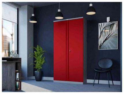 Phoenix SCL1891GRK 2 Door Red Steel Storage Cupboard | in use
