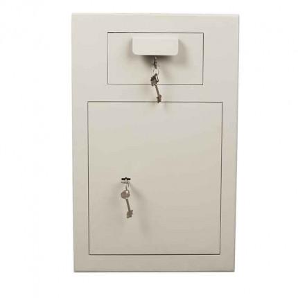 De Raat PT-D3 Key Locking Deposit Safe - face on