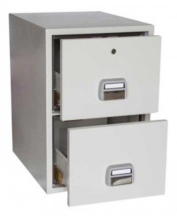 De Raat SF680-2DK 2 Drawer Fire Filing Cabinet 90 mins - open