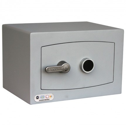 Securikey SFMV0K-S Mini Vault Silver Key Lock Security Safe - door closed
