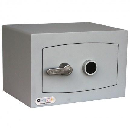 Securikey SFMV0K-S Mini Vault Silver Key Lock Security Safe - door closed