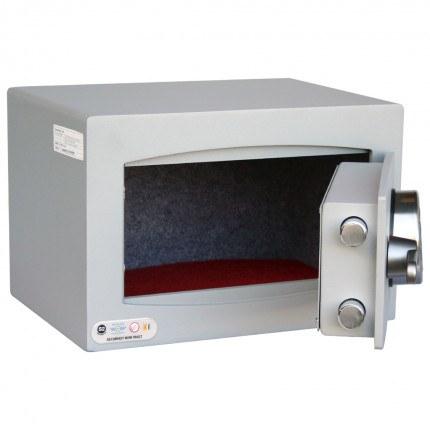 Digital Electronic Security Safe - Securikey Mini Vault Silver 0E - door ajar