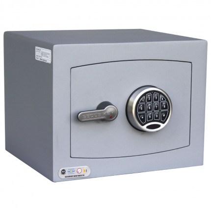 Securikey SFMV1FR-G Mini Vault Gold Key Lock Security Safe - door closed