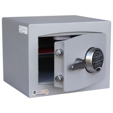 Securikey SFMV1FR-G Mini Vault Gold Key Lock Security Safe - door ajar