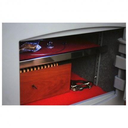 Key Lock Security Safe - Securikey Mini Vault Silver 1K interior light