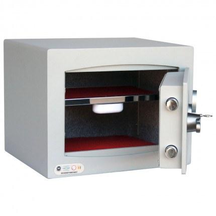 Key Lock Security Safe - Securikey Mini Vault Silver 1K open