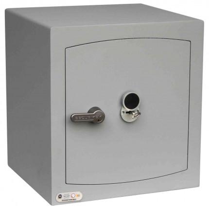 Key Locking Security Safe - Securikey Mini Vault Silver 3K - door closed