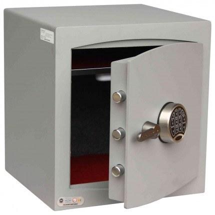 Digital Security Safe - Securikey Mini Vault Silver 3E - door ajar