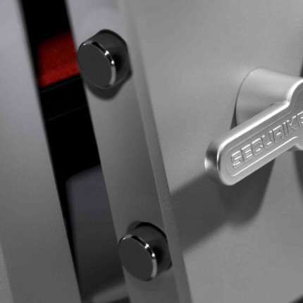 Key Lock Security Safe - Securikey Mini Vault Silver 1K bolts