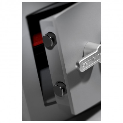 Securikey SFMV-3FRK-G-S2 Mini Vault Gold Key Locking Security Safe showing bolts